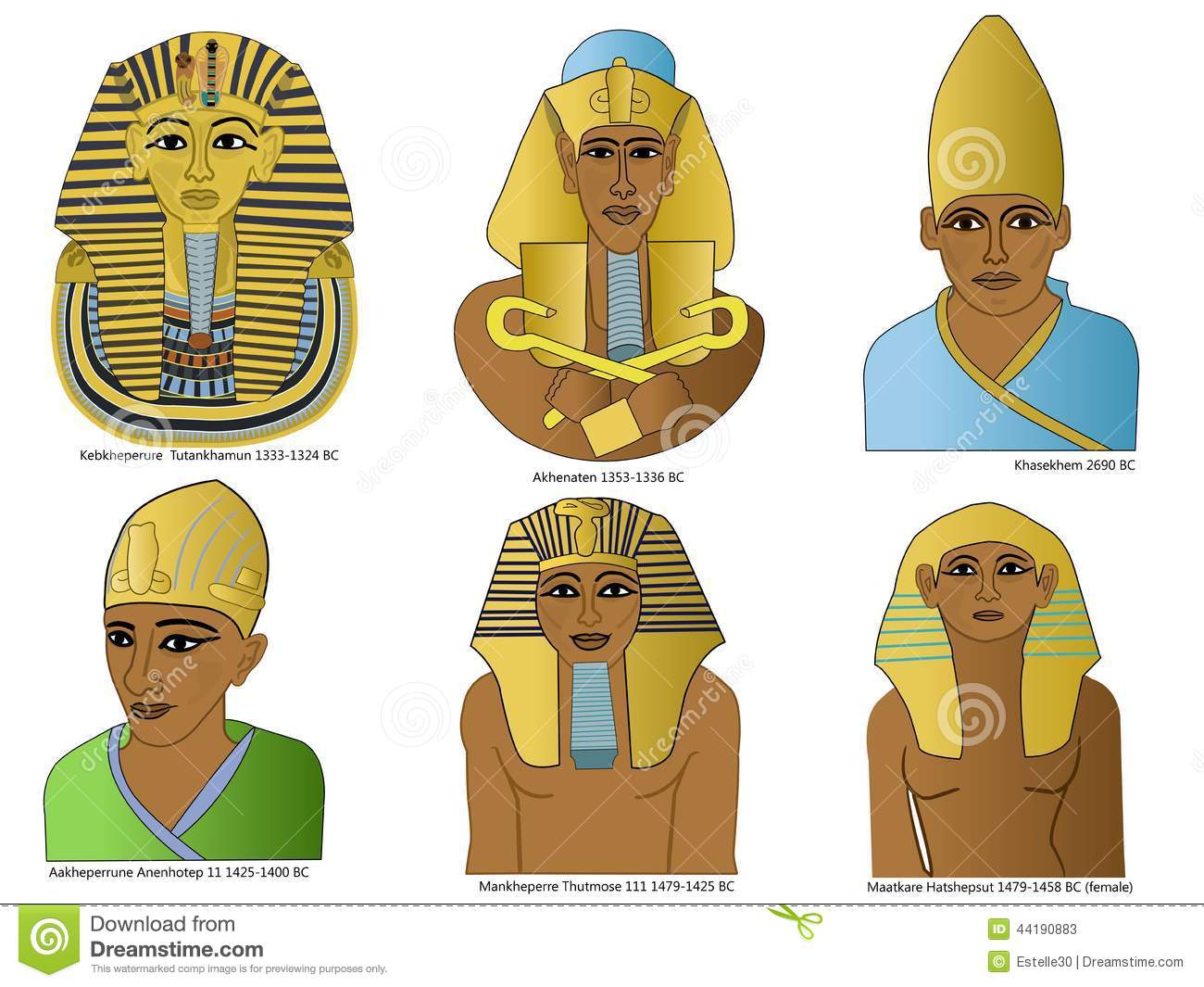 Un Ensemble De Pharaons Egyptiens Antiques Illustration