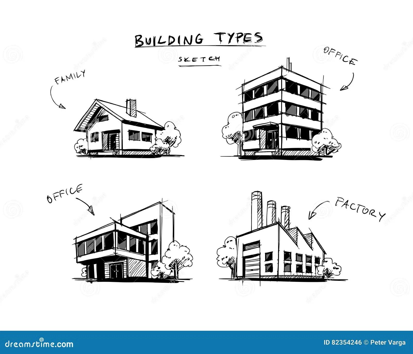Un Insieme Di Quattro Costruzioni Scrive L Illustrazione