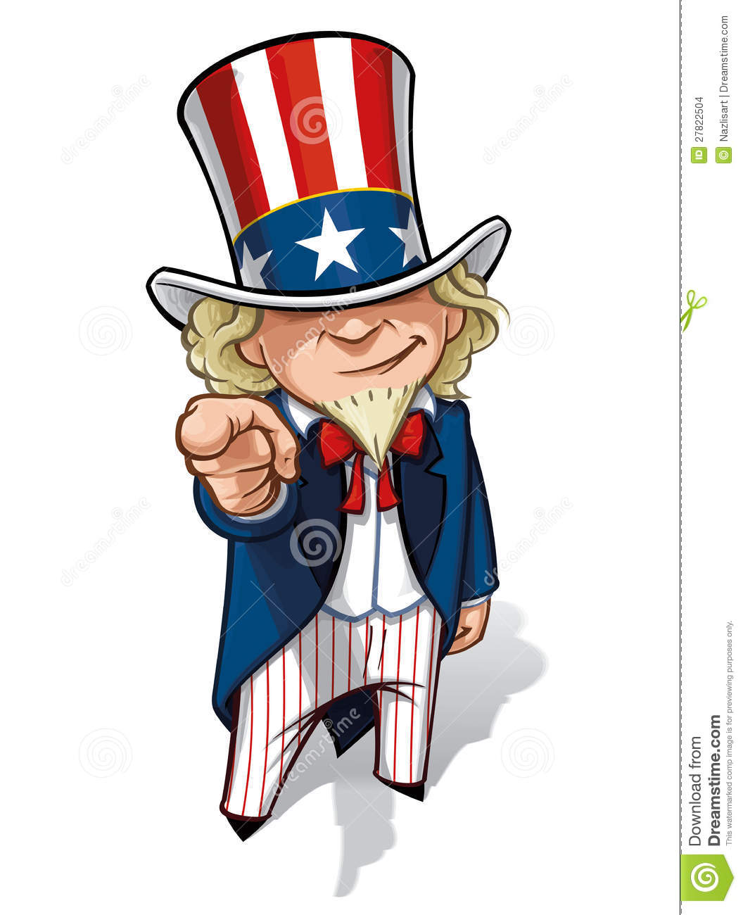 Uncle Sam I Want You Stock Illustration Illustration Of