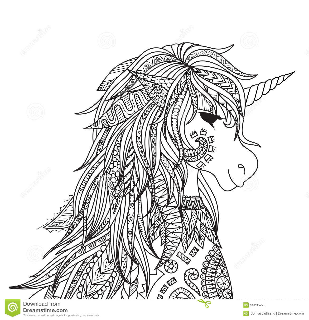 Unicorn Head Stock Vector Illustration Of Myth Page