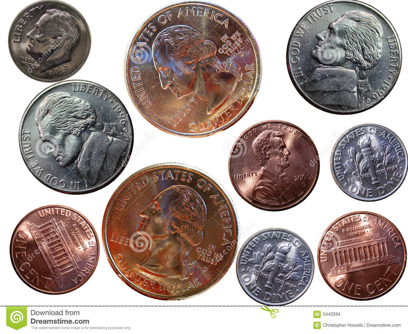 United States Coins Stock Photo Image Of Coins Close