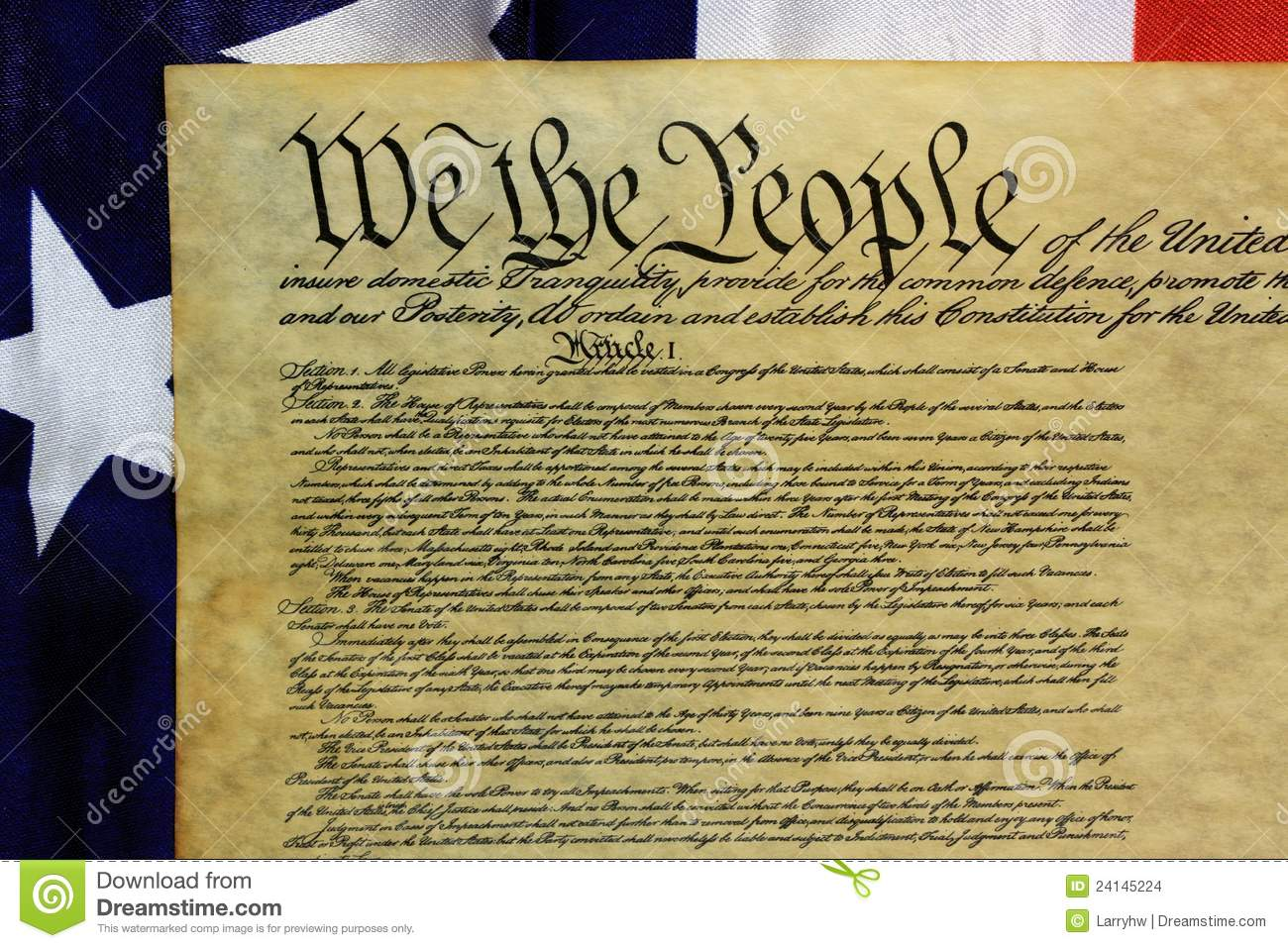 United States Constitution We The People Stock Photo