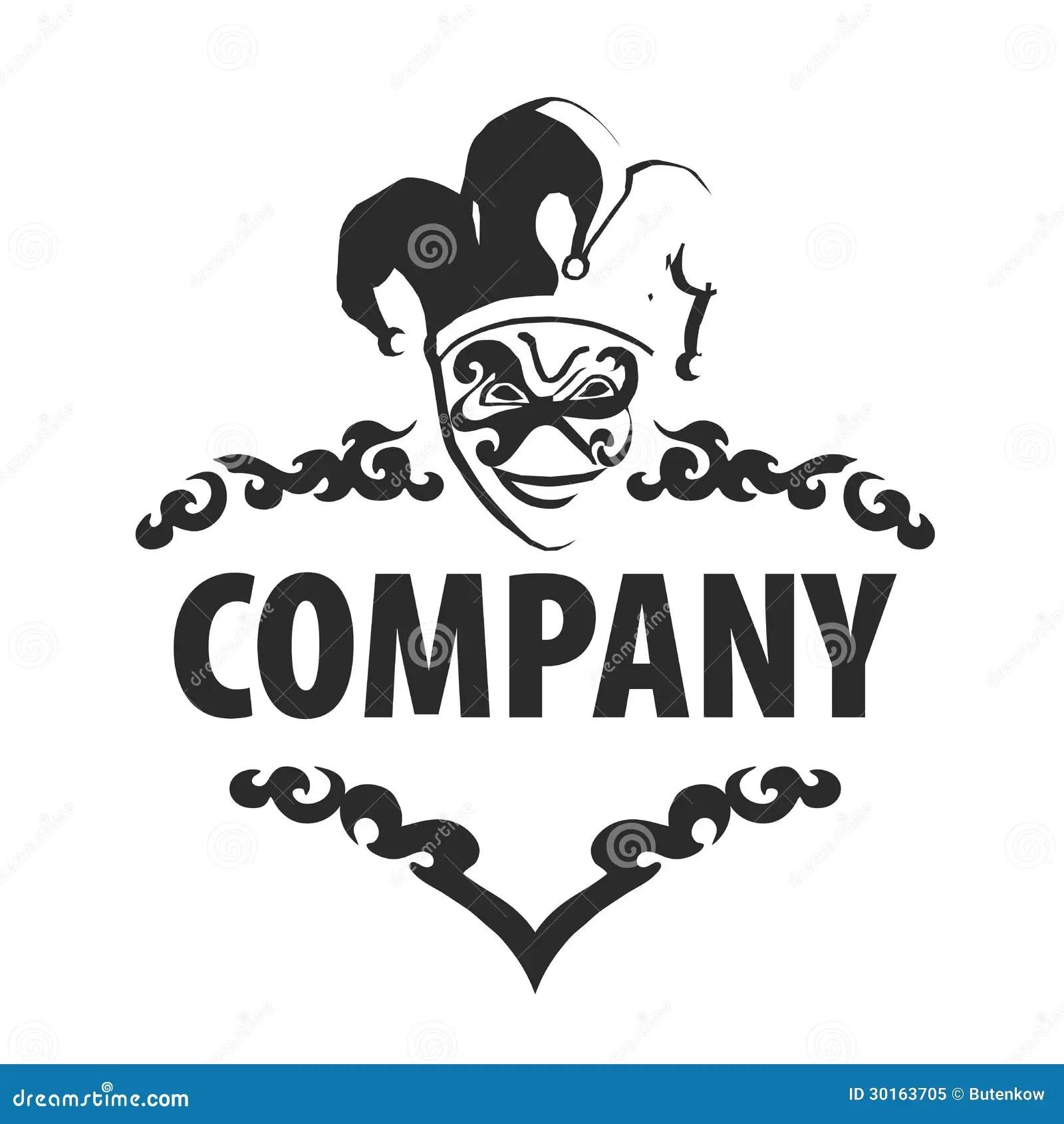 Logo Joker Stock Vector Image Of Illustration Cards