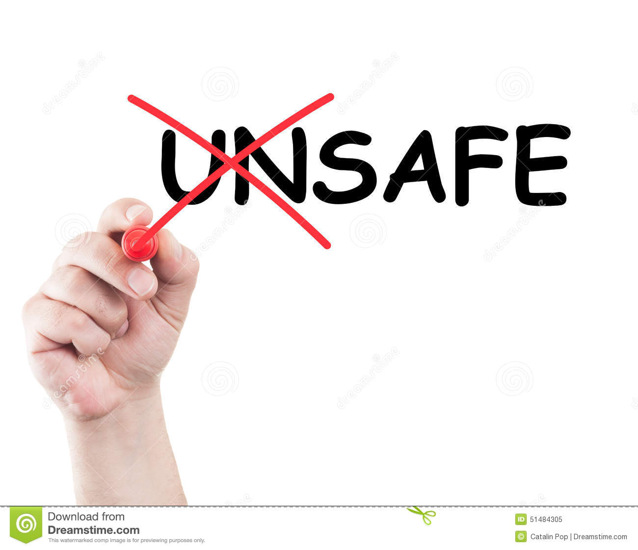 Unsafe Into Safe Stock Image Image Of Isolated