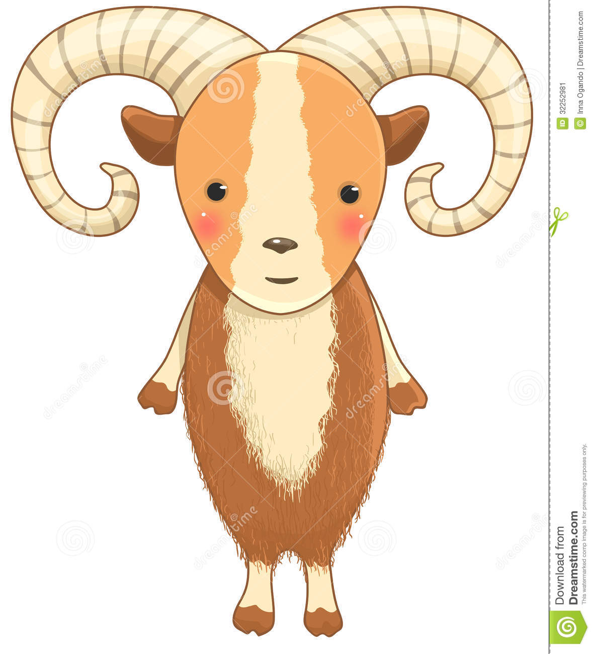 urial cartoon character stock image image 32252981