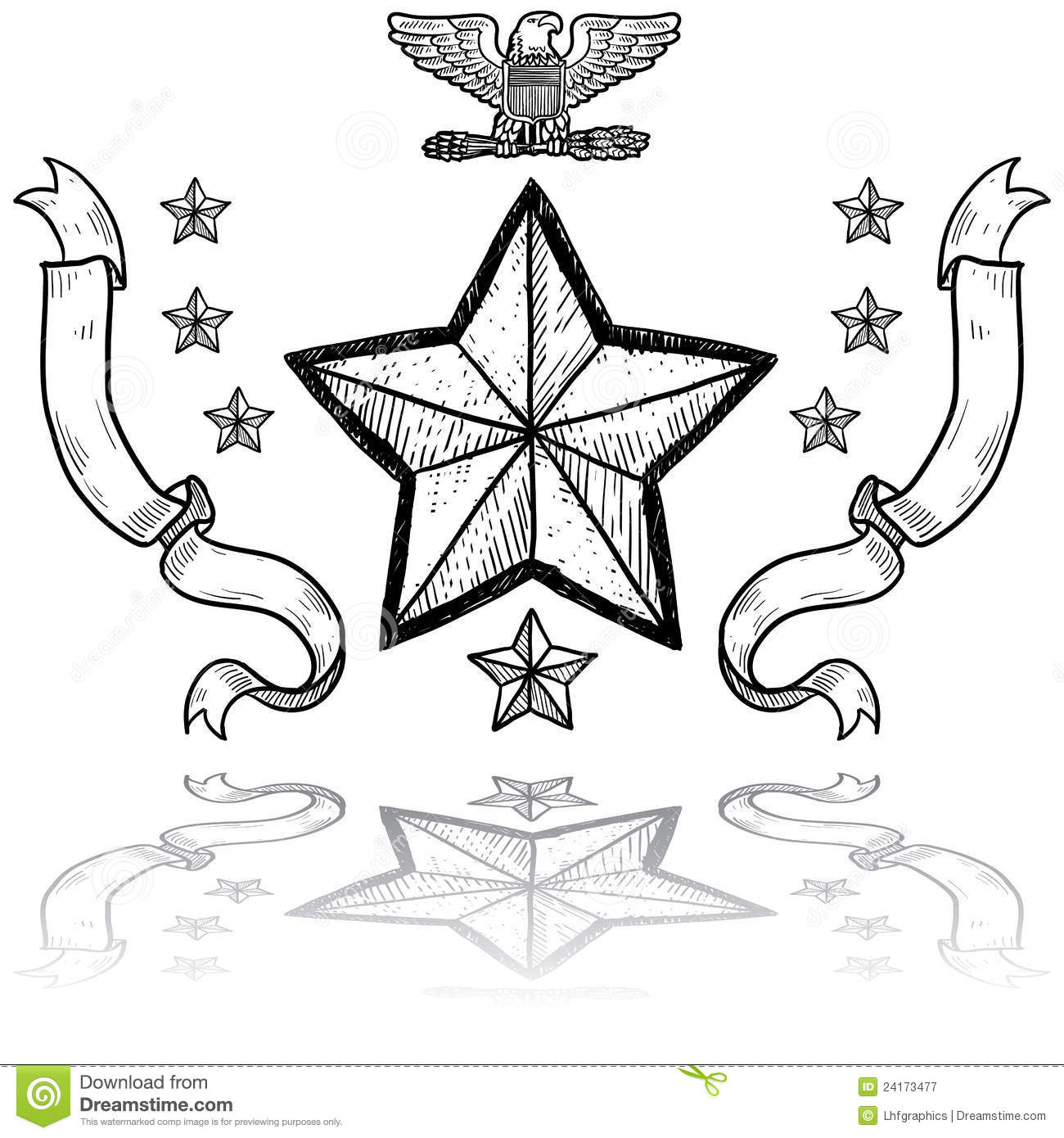 Us Army Insignia With Wreath Stock Vector