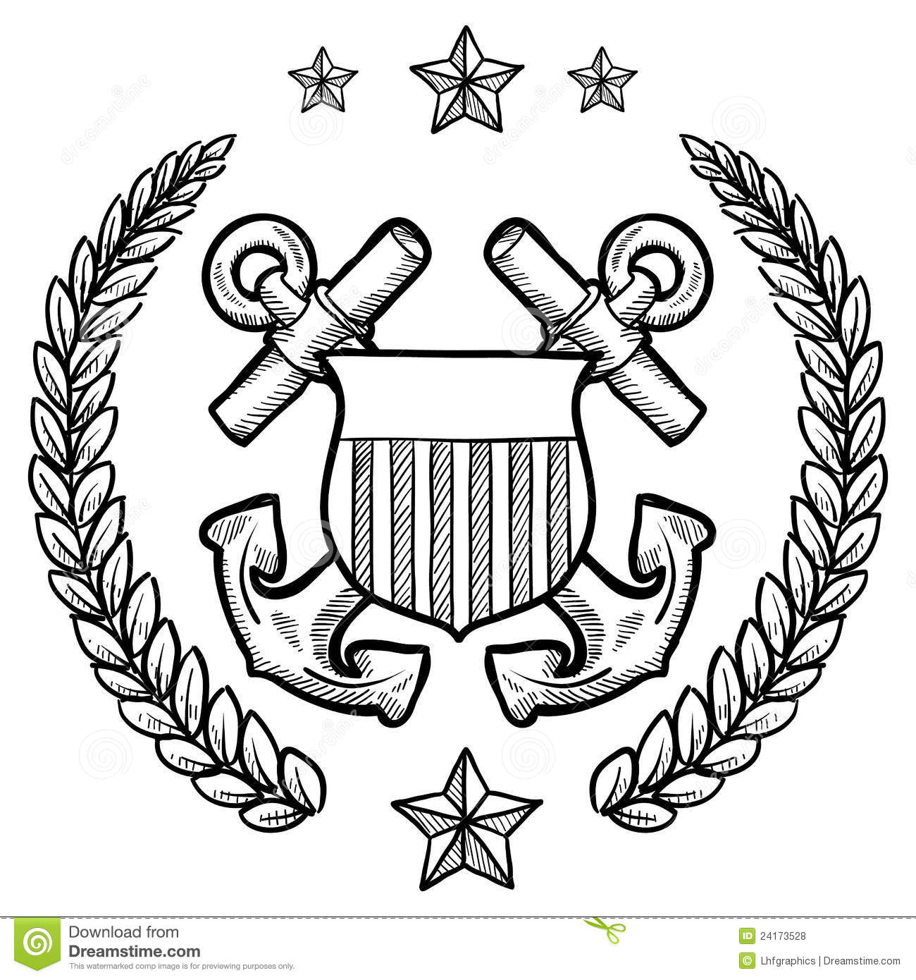 Us Navy Insignia With Wreath Stock Vector