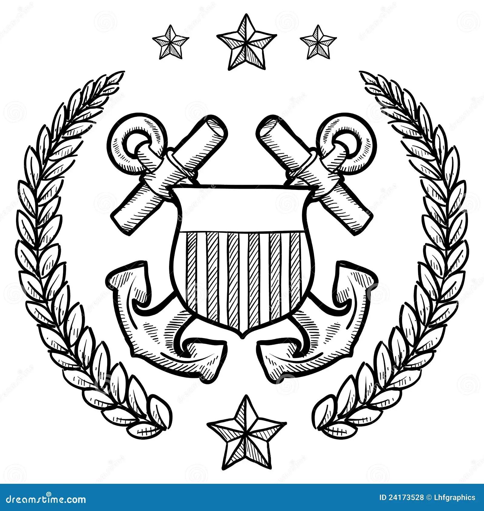 Us Navy Rank Insignia Vector Illustration
