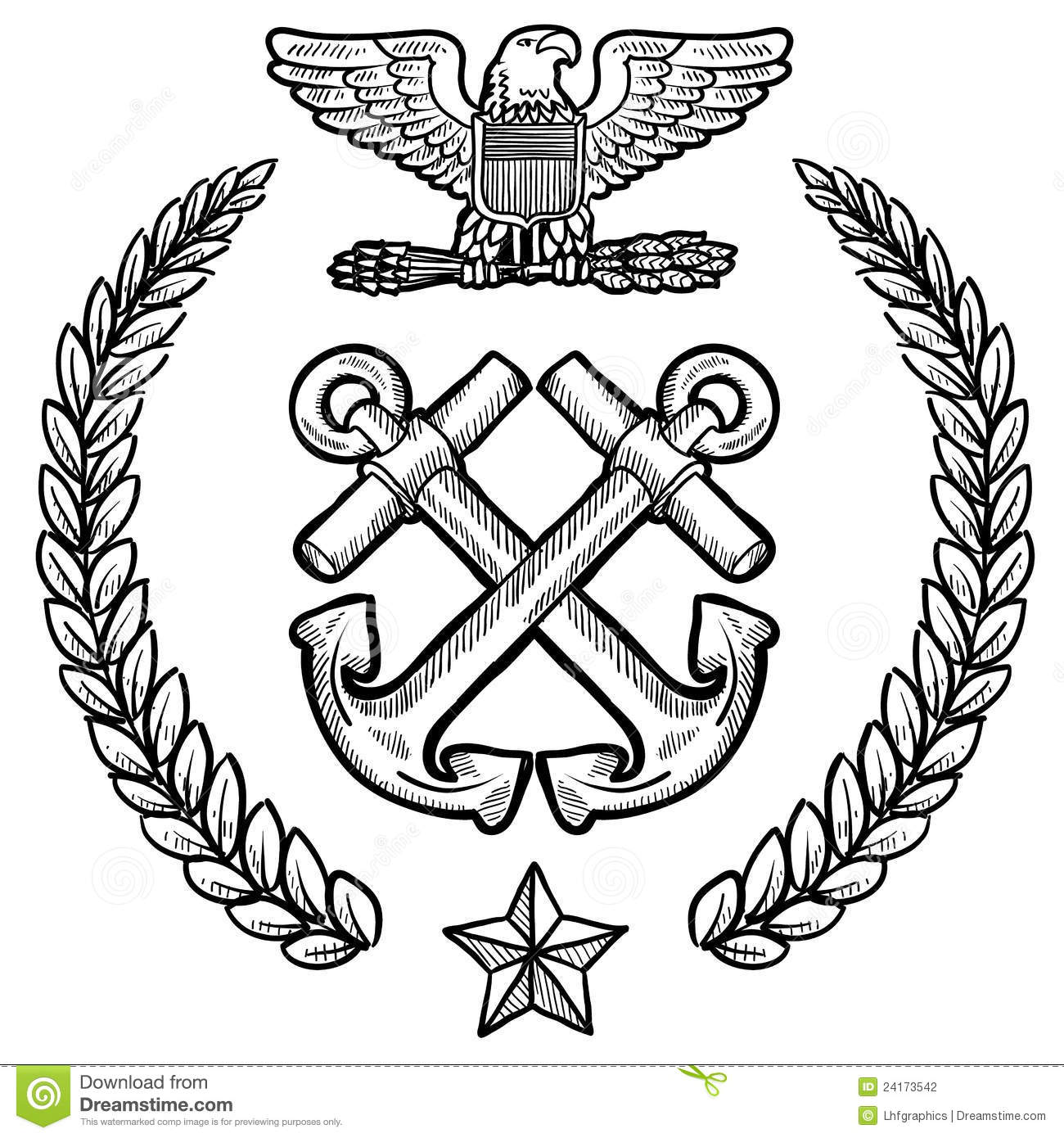 Us Navy Insignia With Wreath Stock Photography