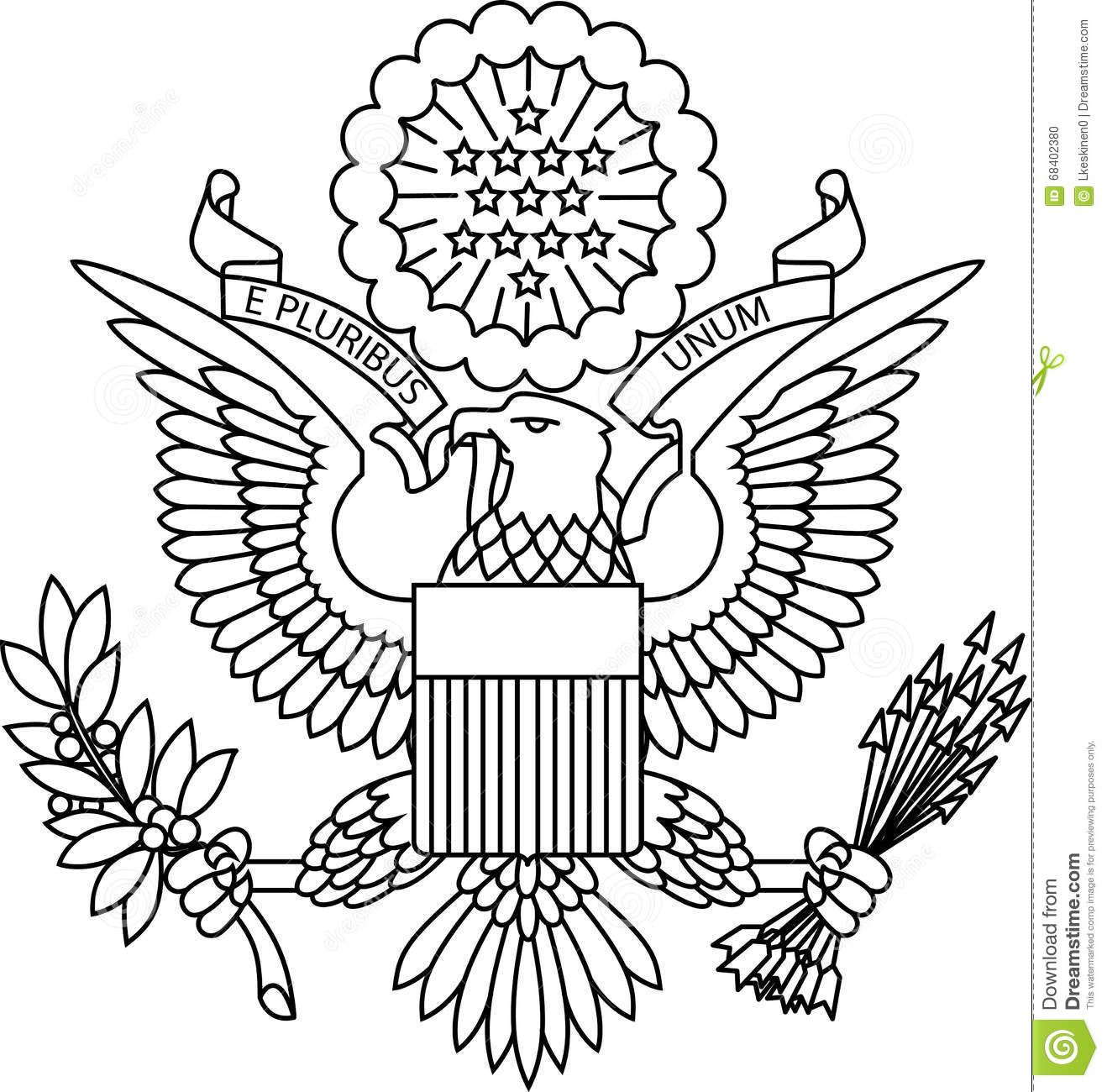 Seal Of The Us Royalty Free Stock Image