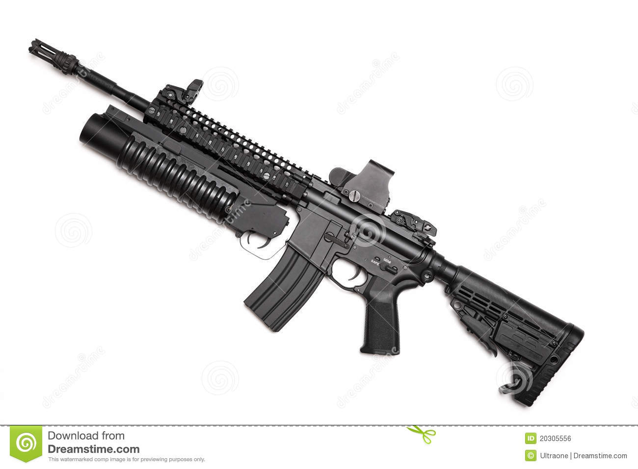 Us Spec Ops M4a1 Assault Rifle Stock Photo