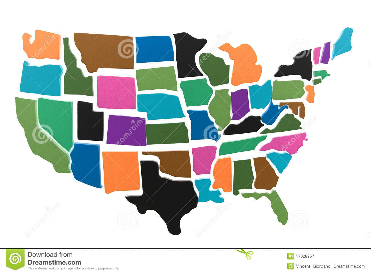 Usa Map Puzzle Outline Stock Illustration Image Of States