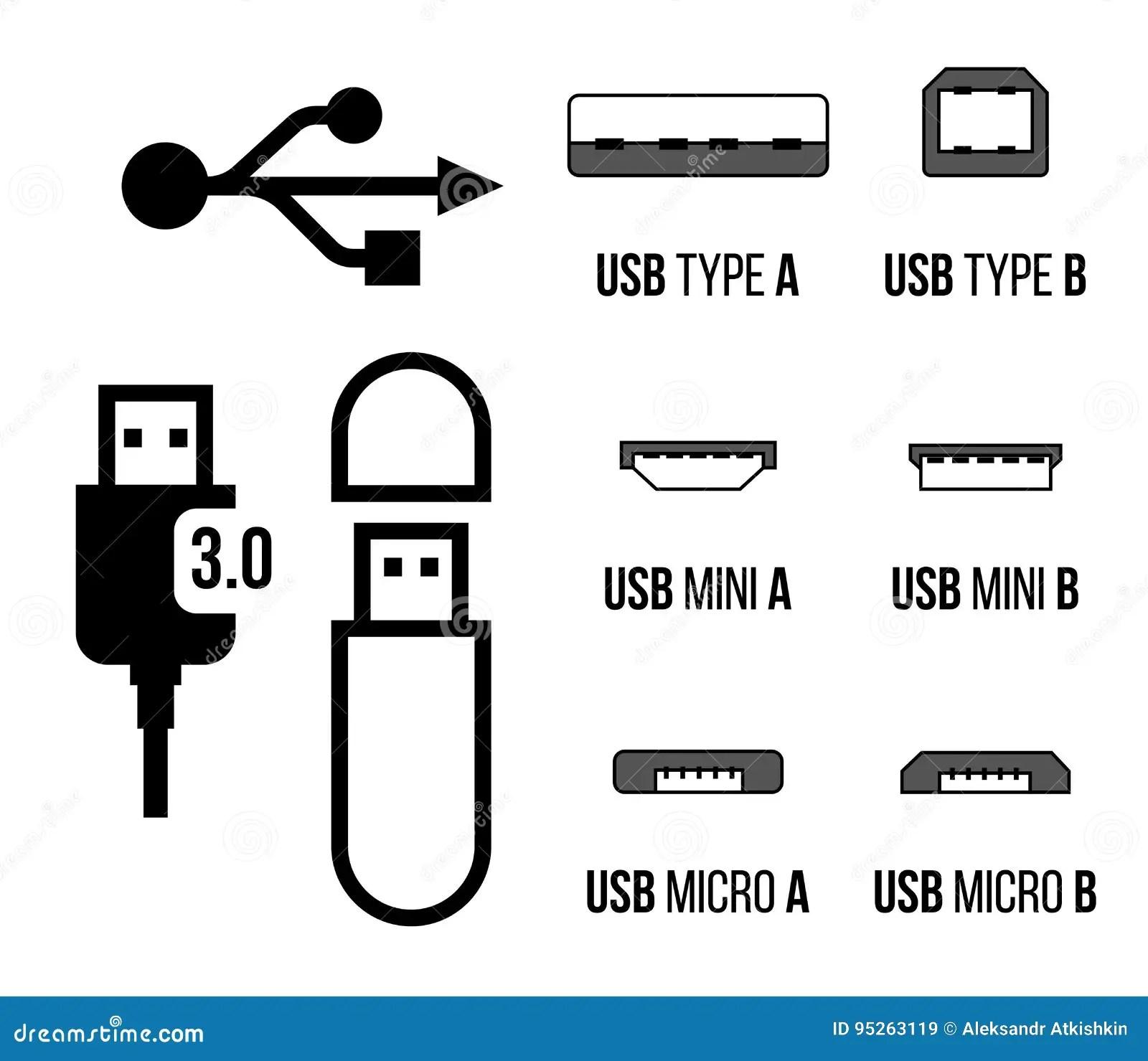 Usb Sockets Icon Stock Vector Illustration Of Adapter