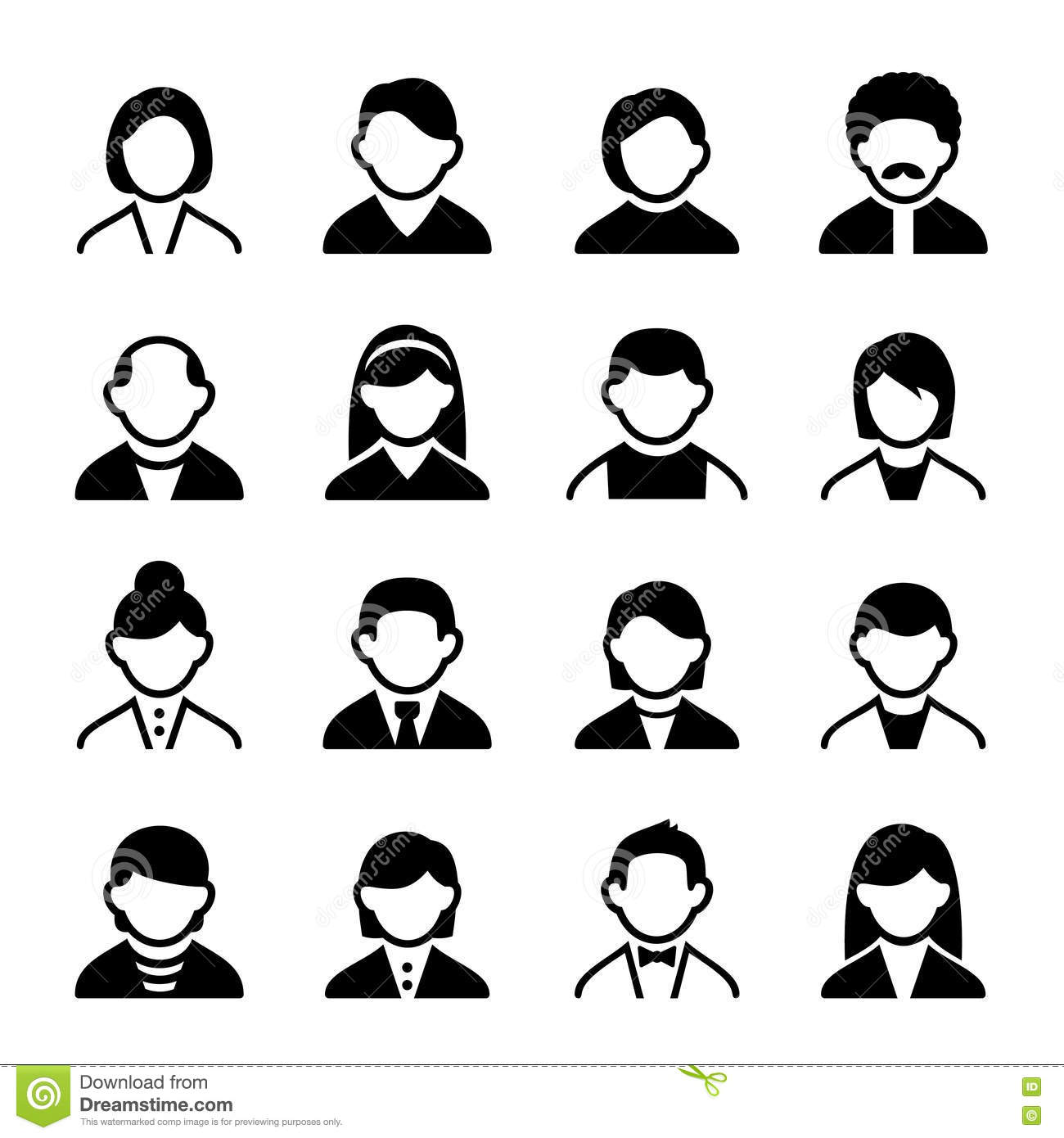 User Icons Set 3 Royalty Free Stock Photography