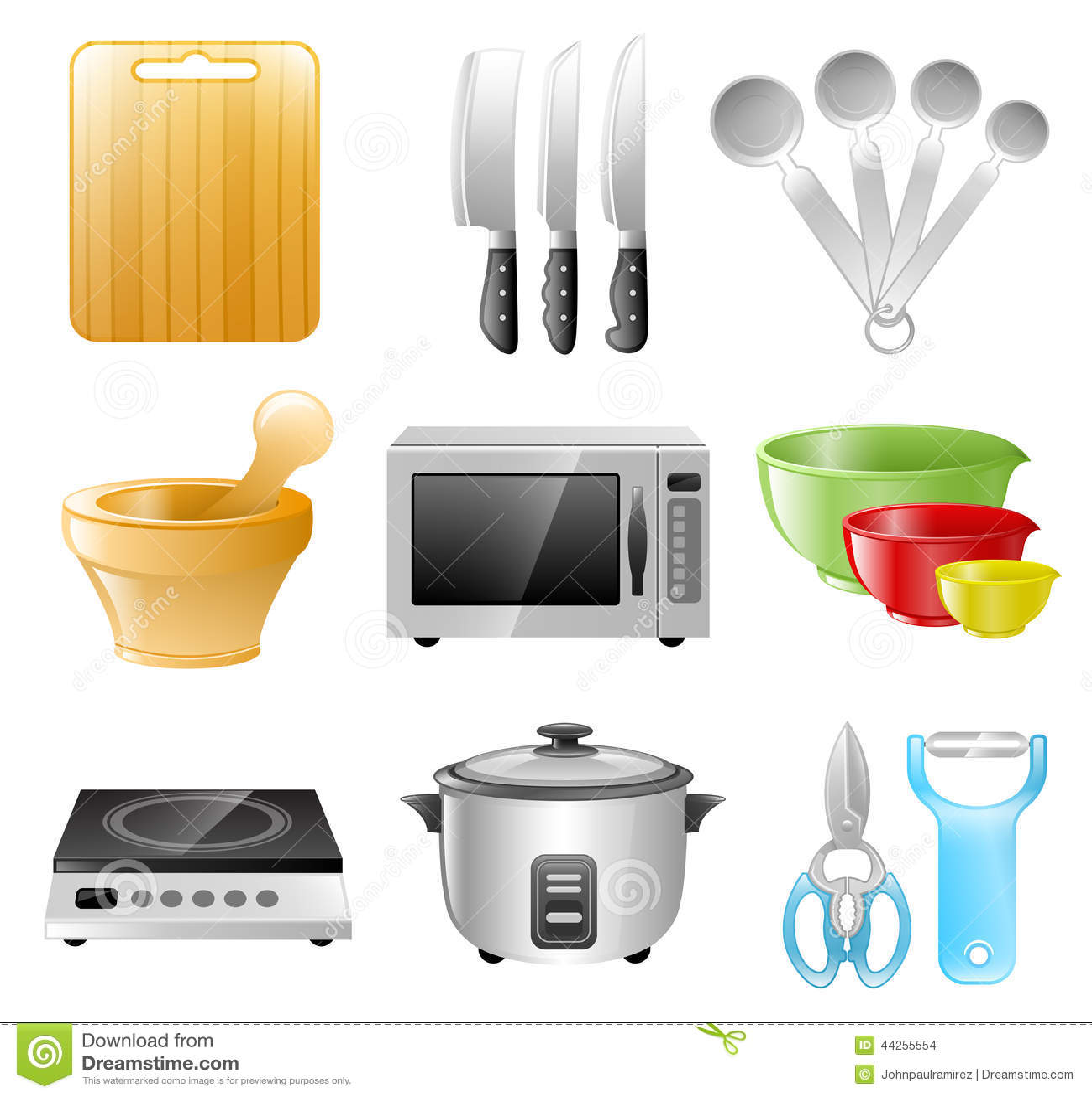 Utensilios De La Cocina Cocinando Restaurante