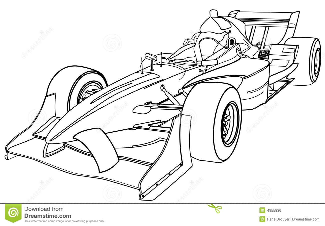 Vehicule De Formule 1 Illustration De Vecteur