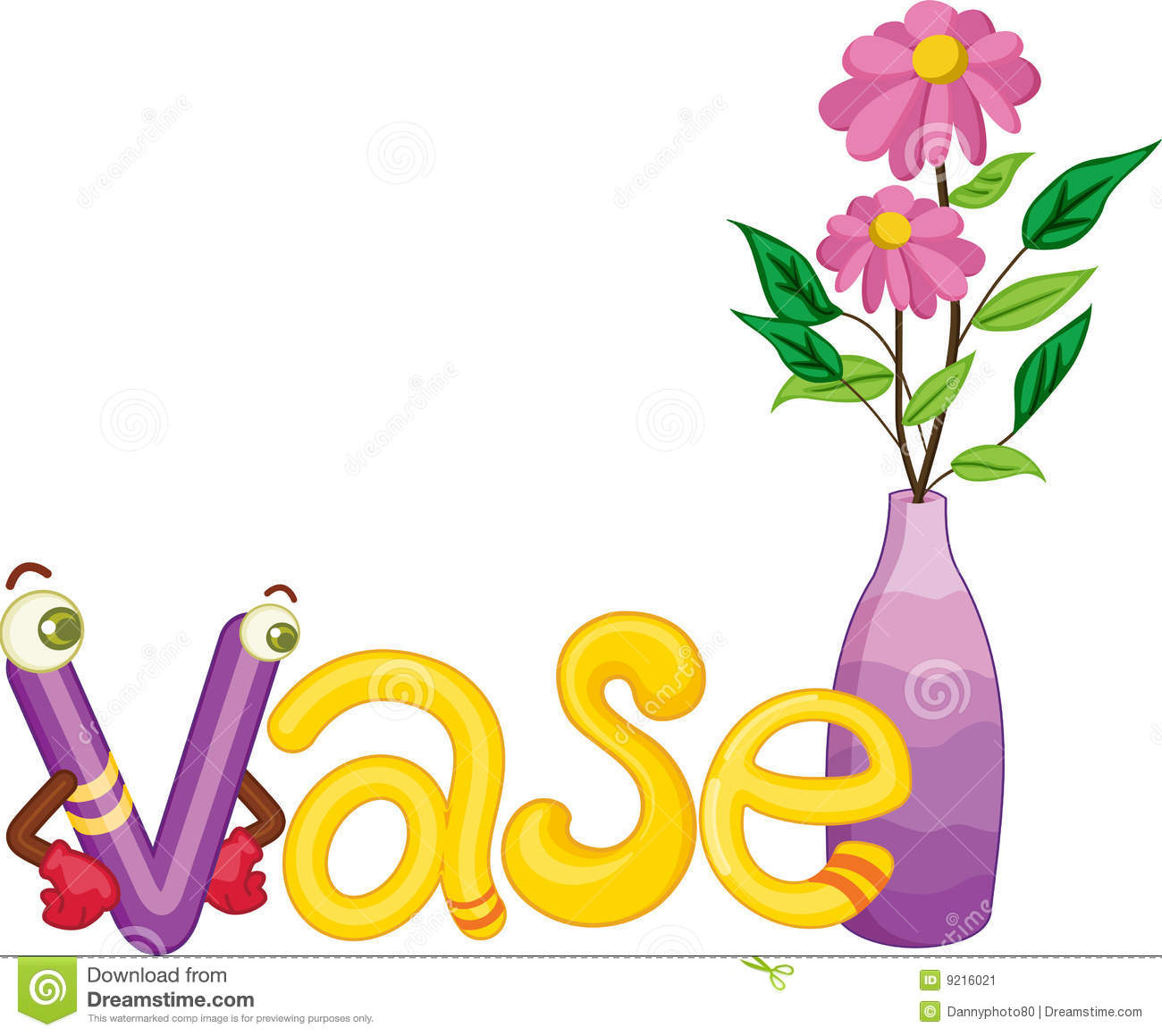 V For Vase Stock Illustration Image Of Space Isolated