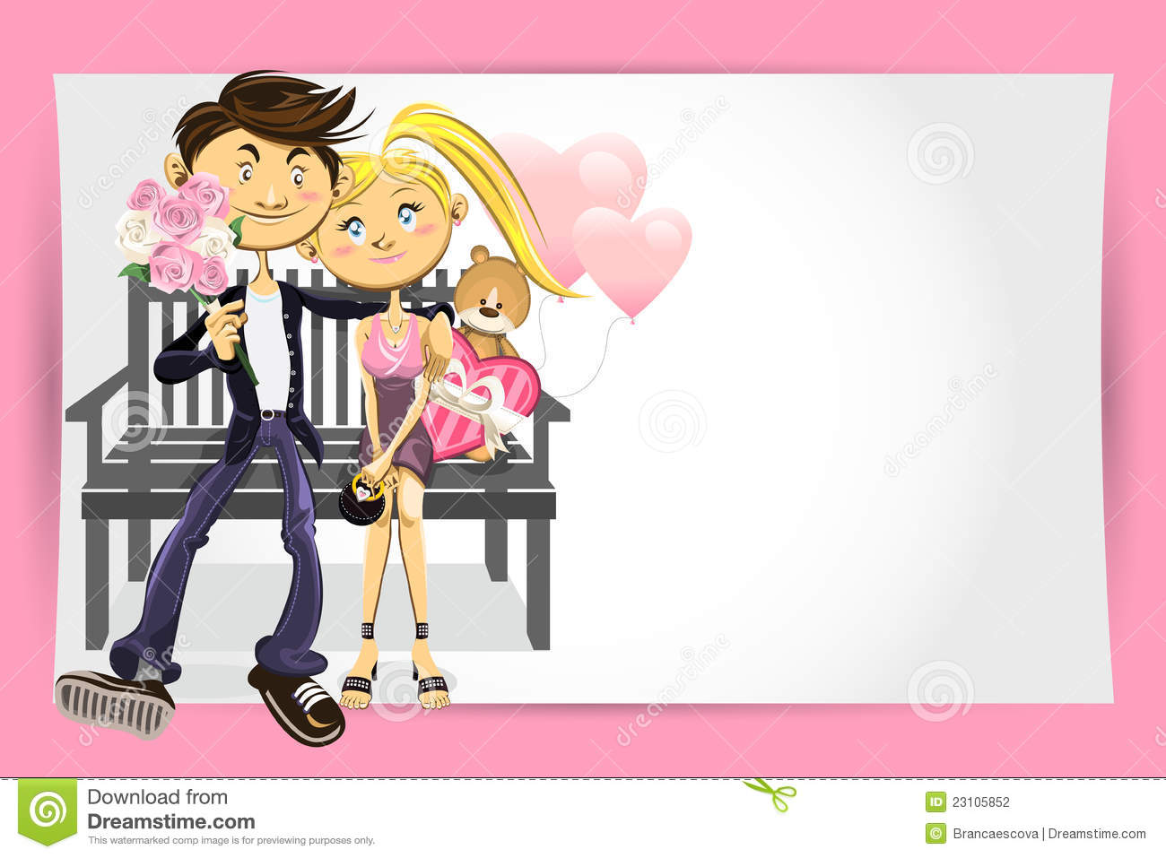 Valentine Couple Greeting Card Stock Photography Image