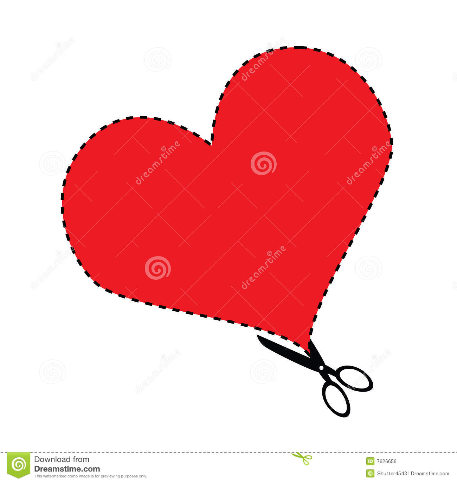 Valentine Cutouts Royalty Free Stock Image