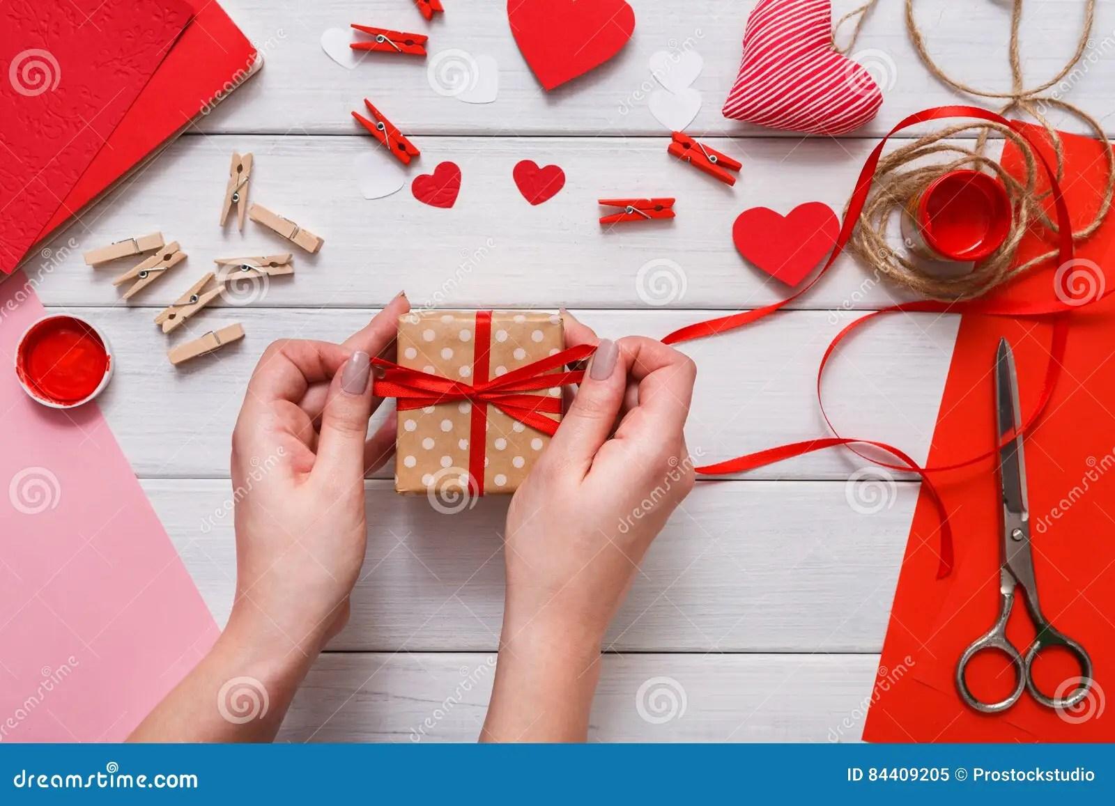 Valentine Day Handmade Present Background Cut And Paste