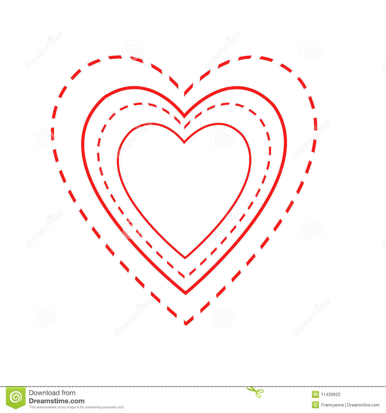 Valentine Heart Outlines Stock Photos