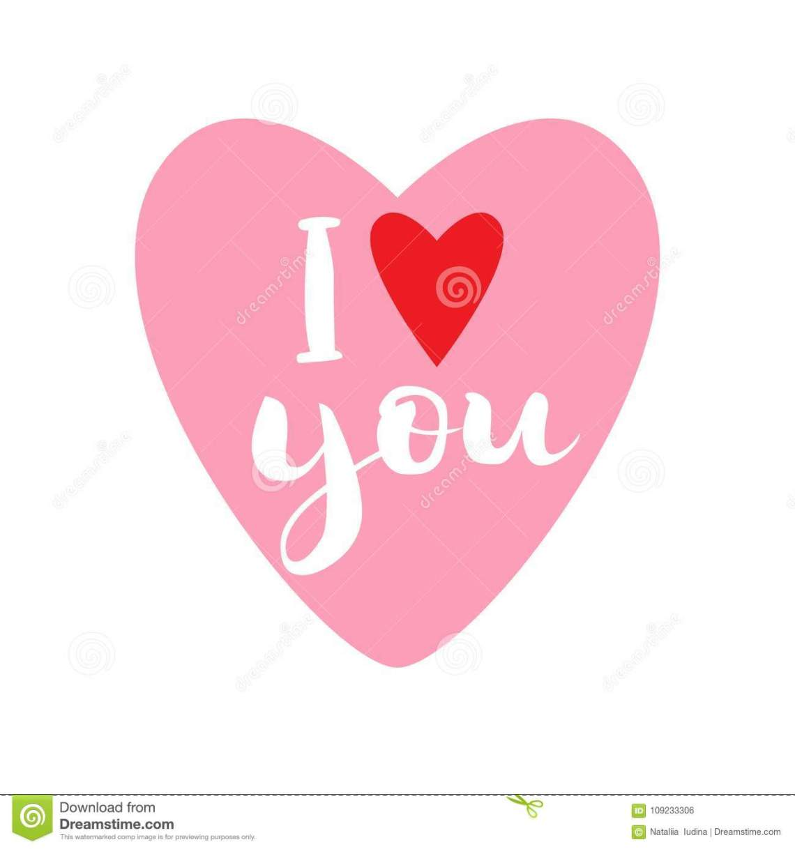 Download Valentine`s Day Card With Lettering. I Love You ...