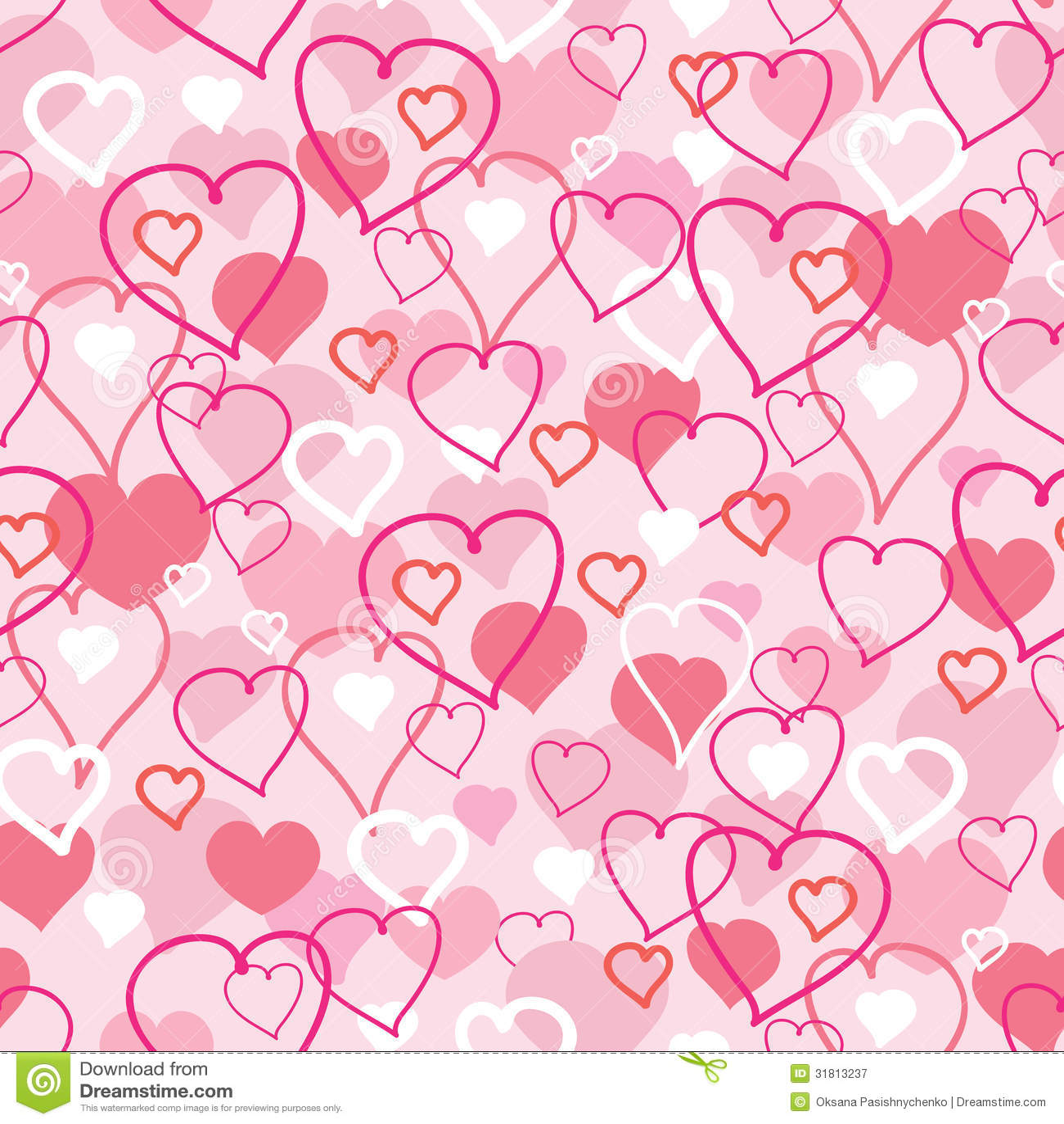 Valentine S Day Hearts Seamless Pattern Background Stock