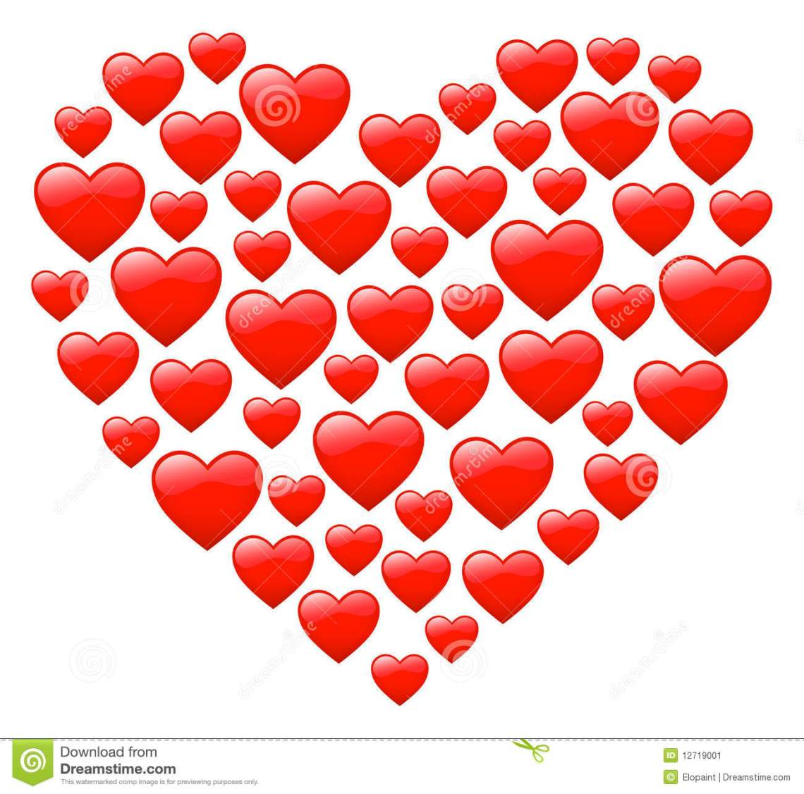 Download Valentine`s heart stock vector. Illustration of objects ...