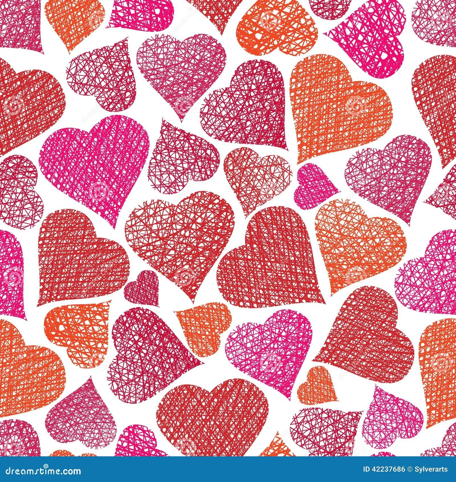Valentine Theme Seamless Background Hearts Seamless