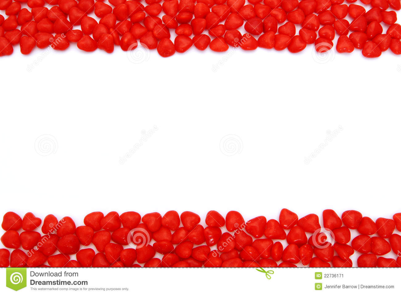 Valentines Day Cinnamon Hearts Frame Stock Image Image