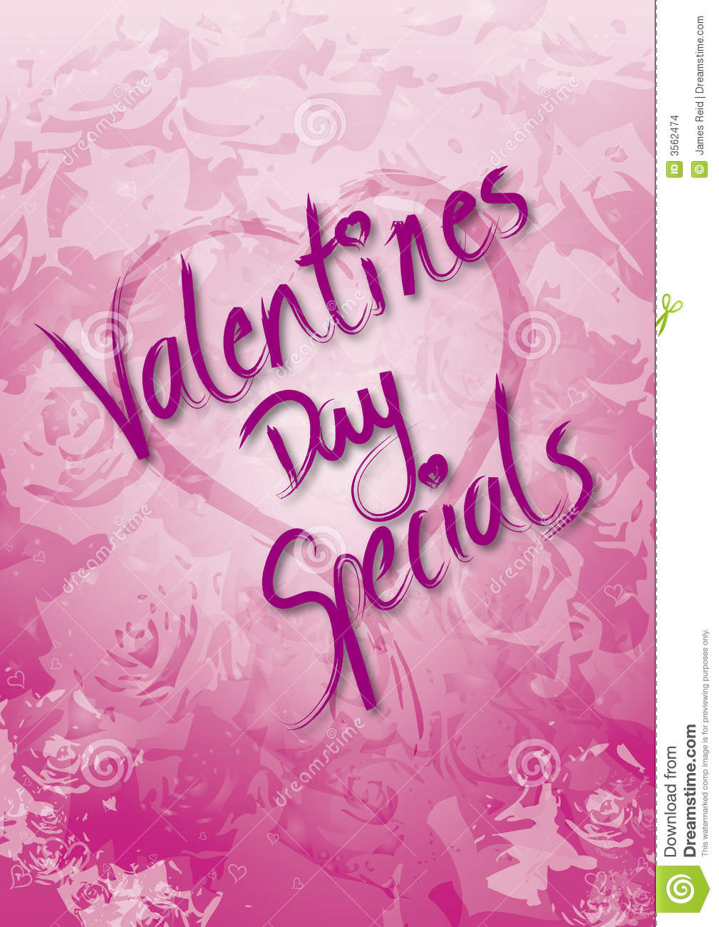 Valentines Day Specials Stock Illustration Image Of