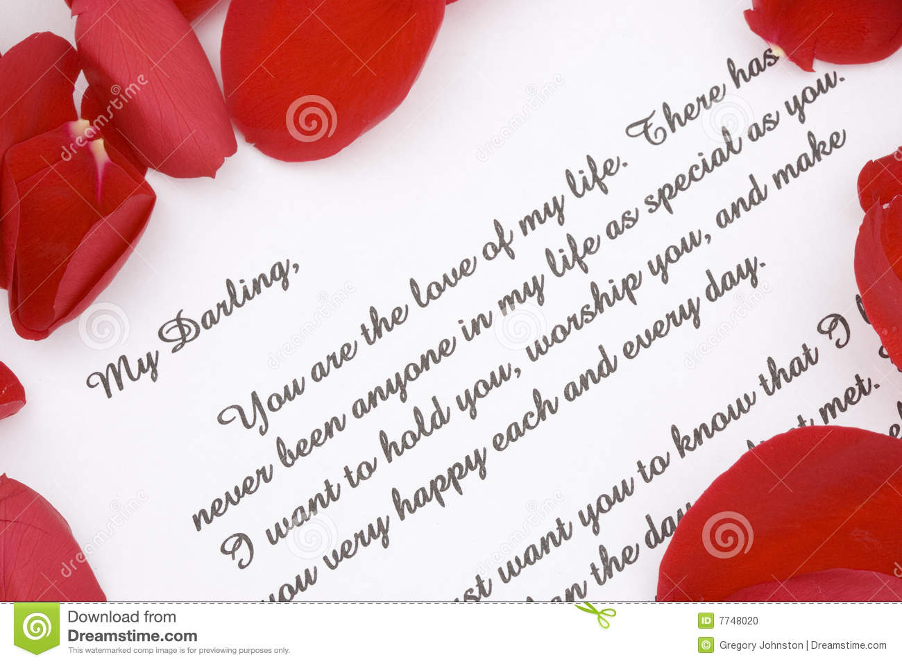 Valentines Love Letter Stock Photo Image Of Rose Paper