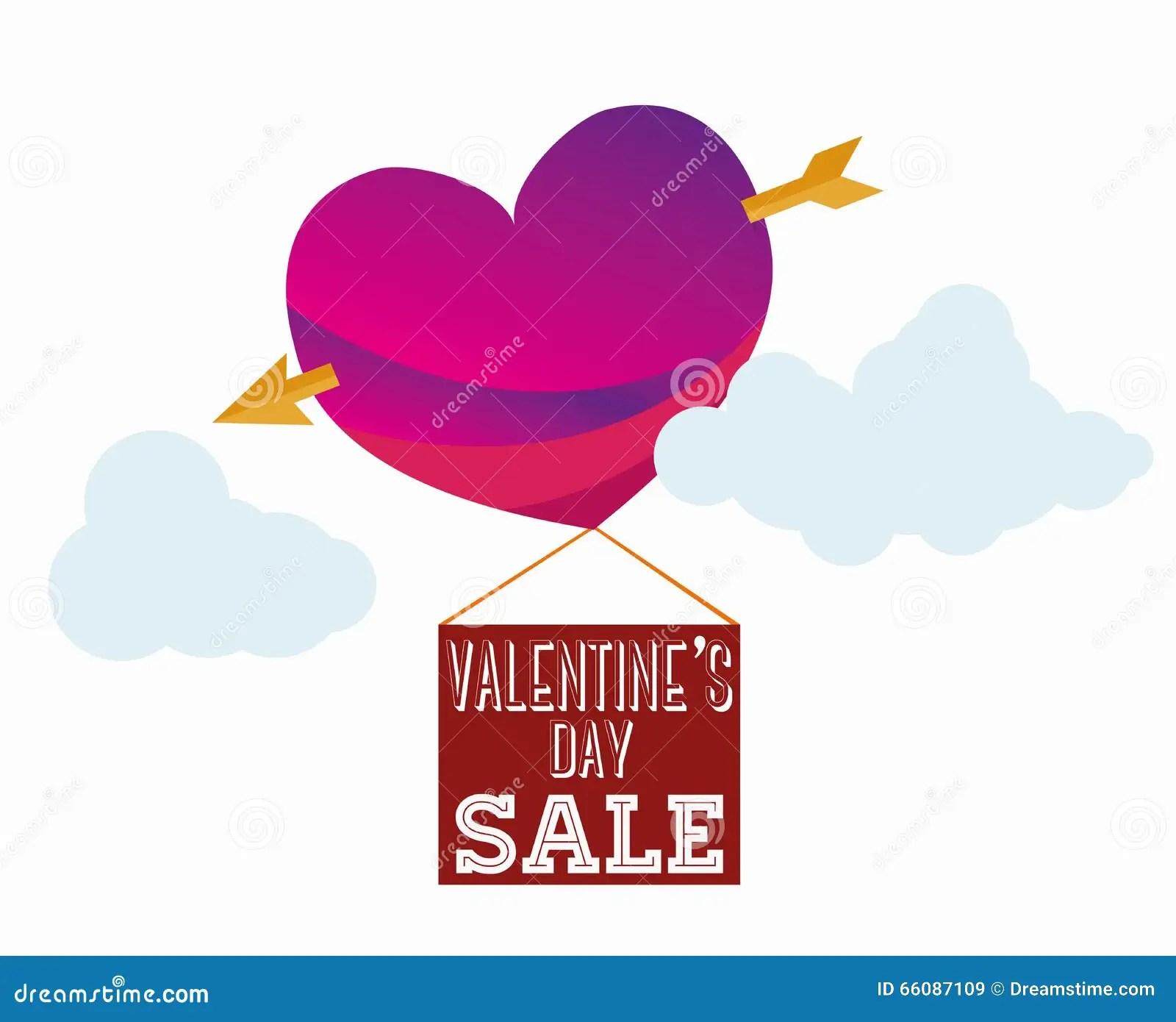Valentines Sale Stock Vector