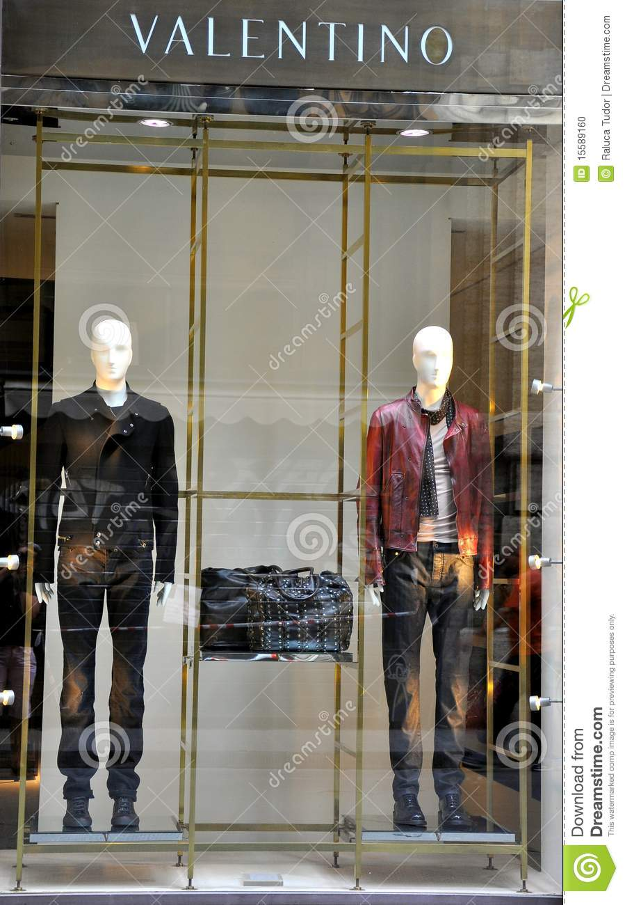 Valentino Man Fashion Store In Italy Editorial Image