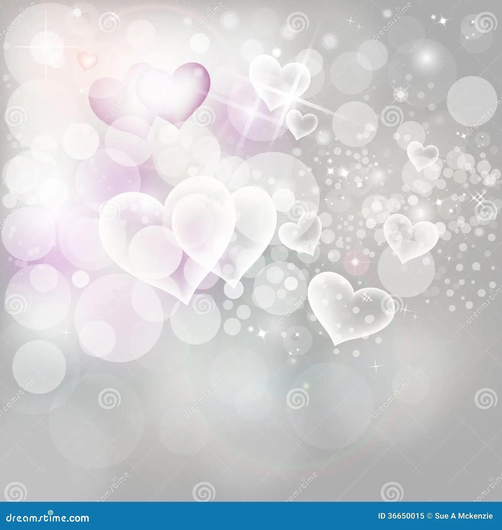 Valentinsgru Tagesfeiertags Hintergrund Silber Beleuchtet