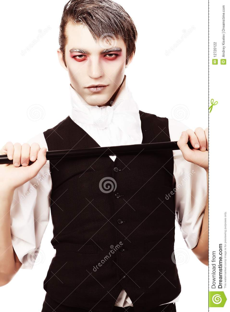 Vampire Man Stock Photo Image Of Stick Vamp Clothes