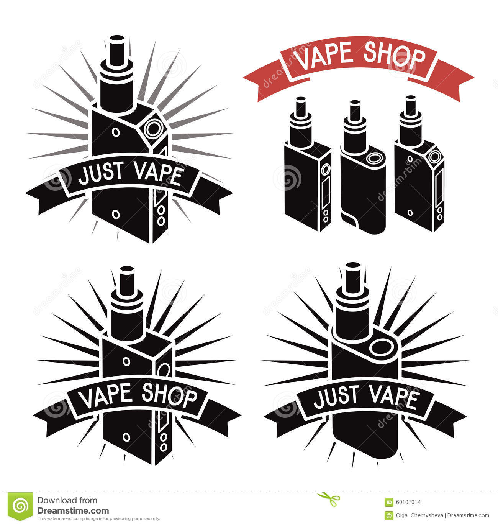 Vape Shop Logo Vector Illustration