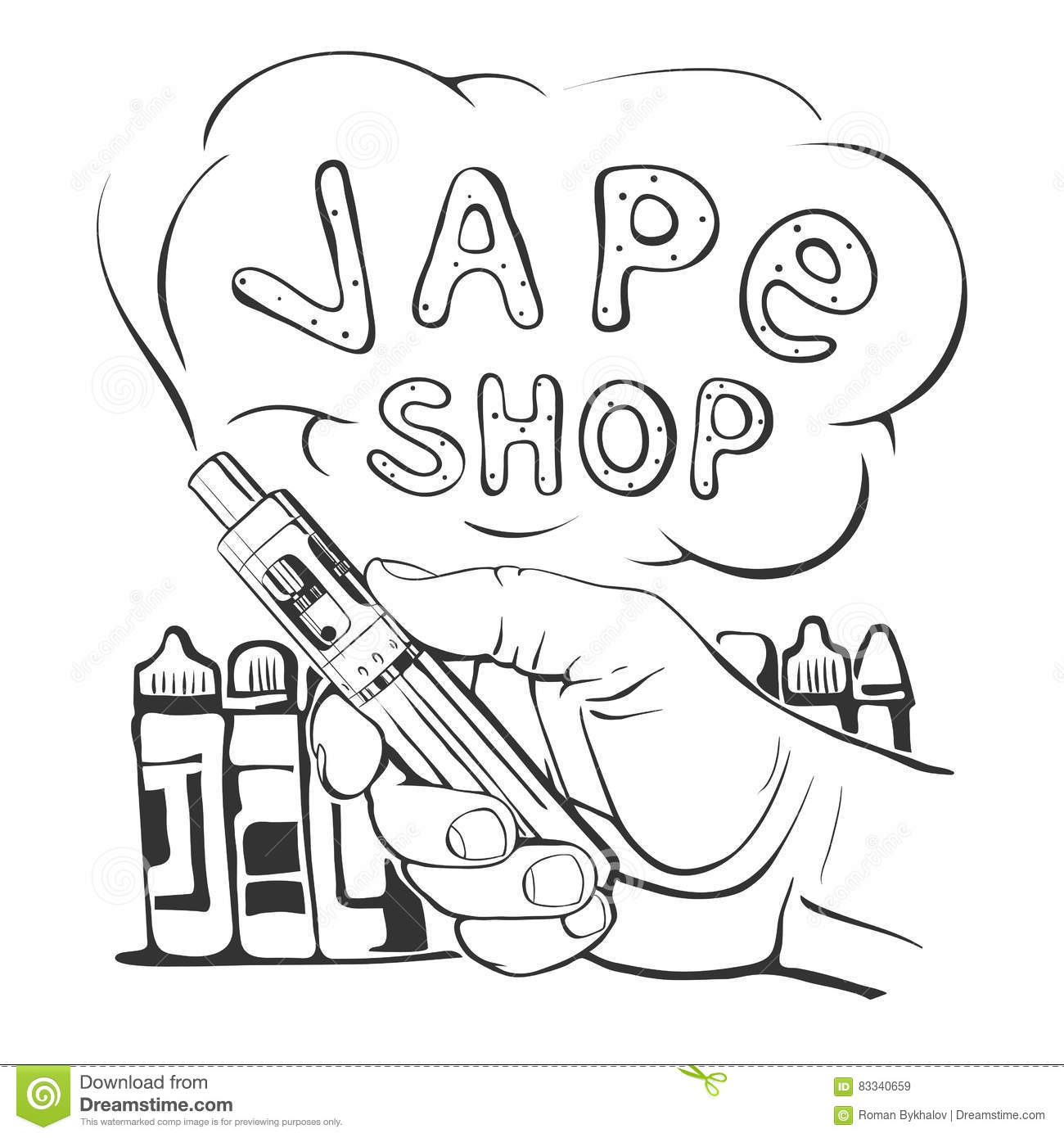 Vaping Cartoons Illustrations Amp Vector Stock Images