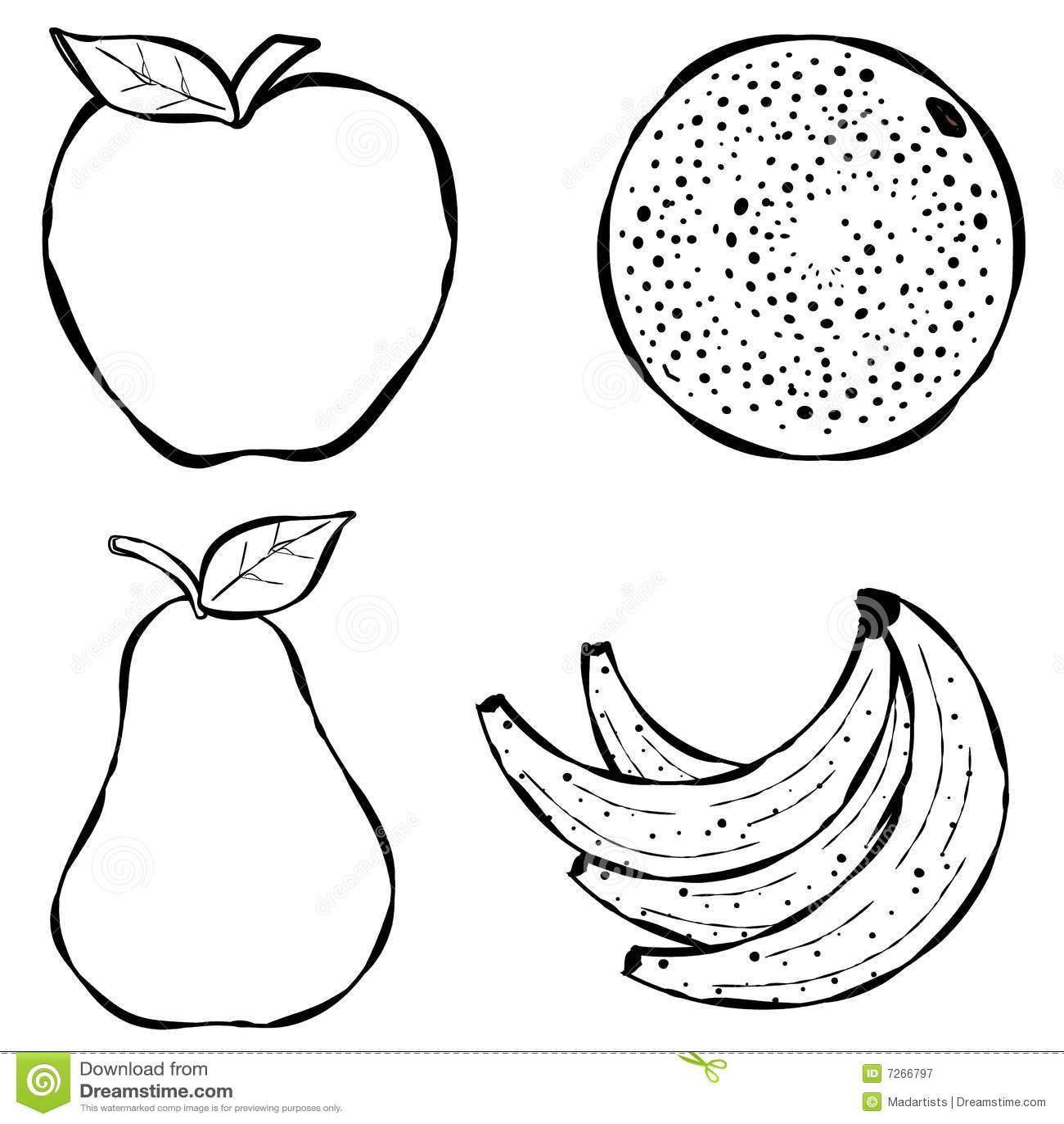 Varia Linea Arte De La Fruta Fotografia De Archivo Libre