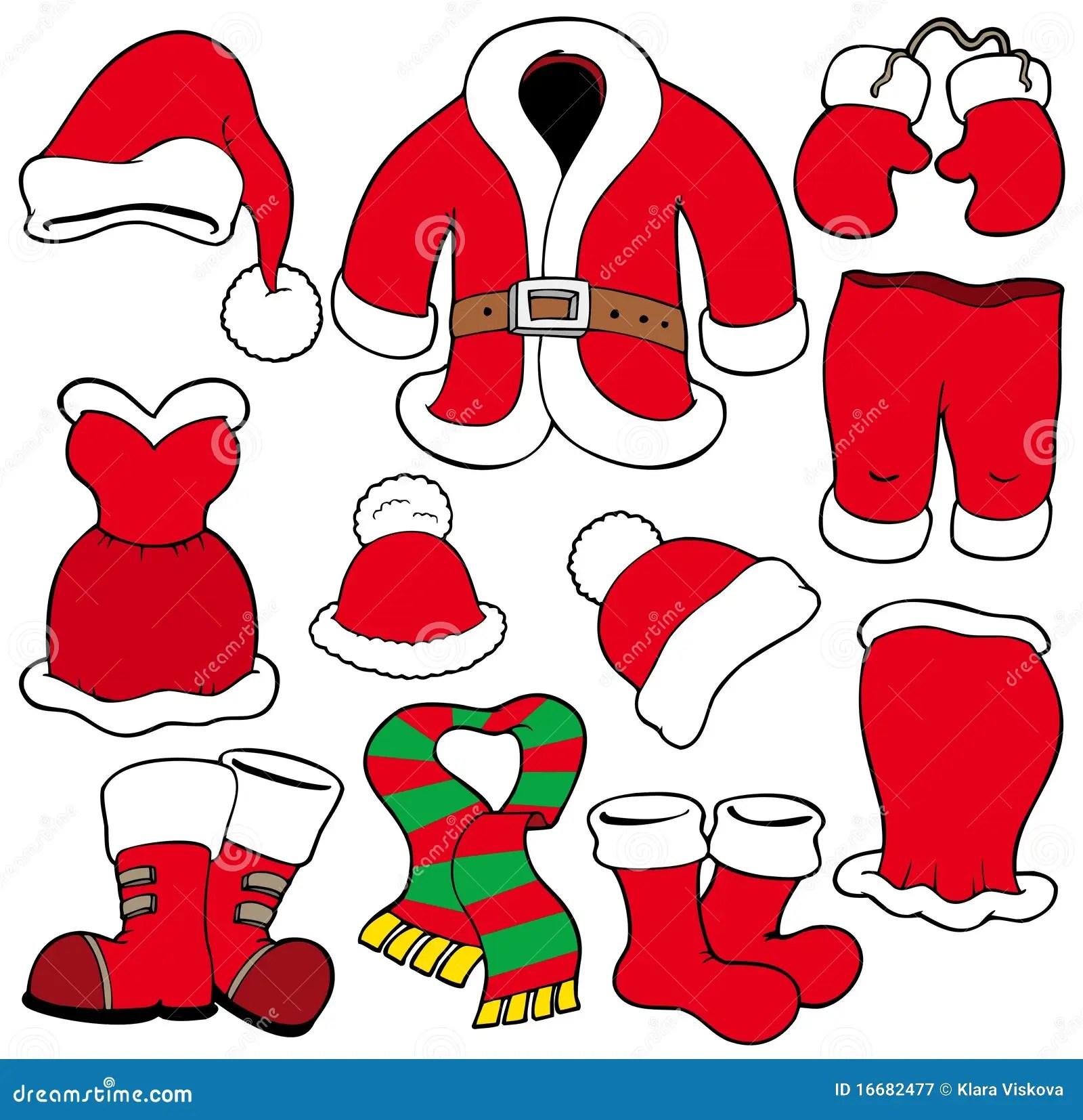 Various Santa Claus Clothes Royalty Free Stock Photography