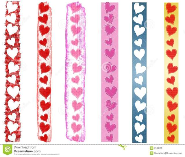 Various Valentine S Day Heart Borders