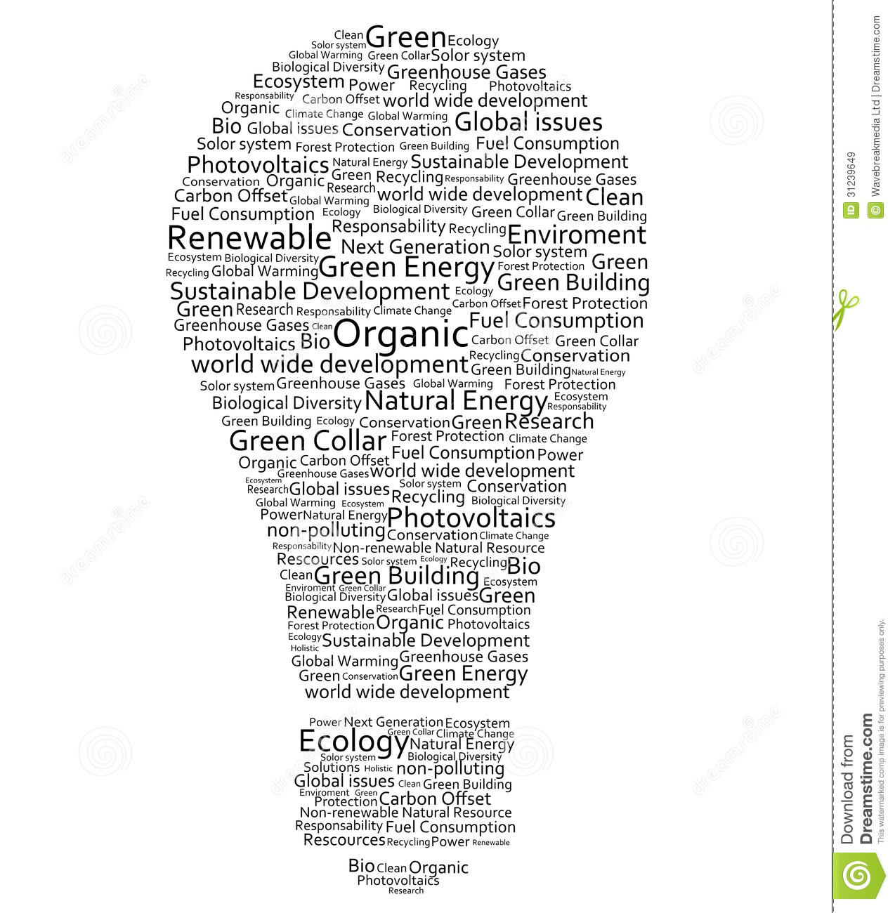 Various Words Forming A Light Bulb Royalty Free Stock
