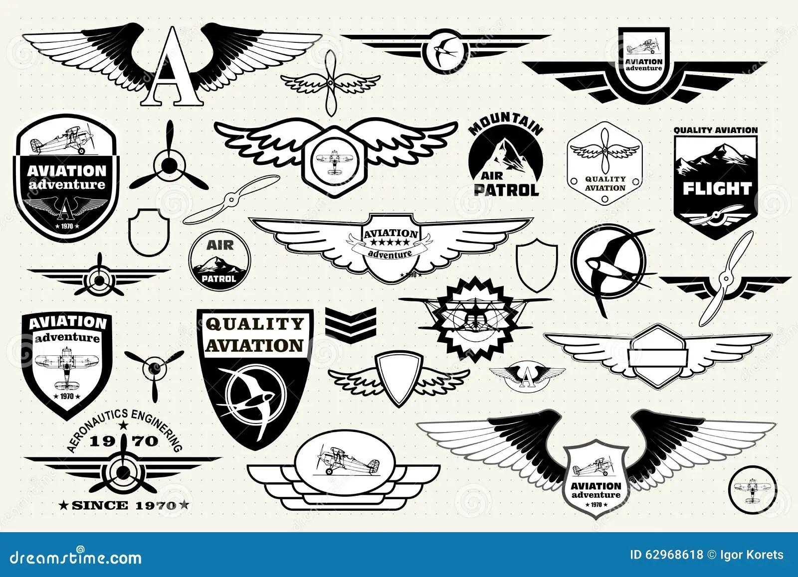 Vastgestelde Retro Emblemen Ontwerpelementen Kentekens