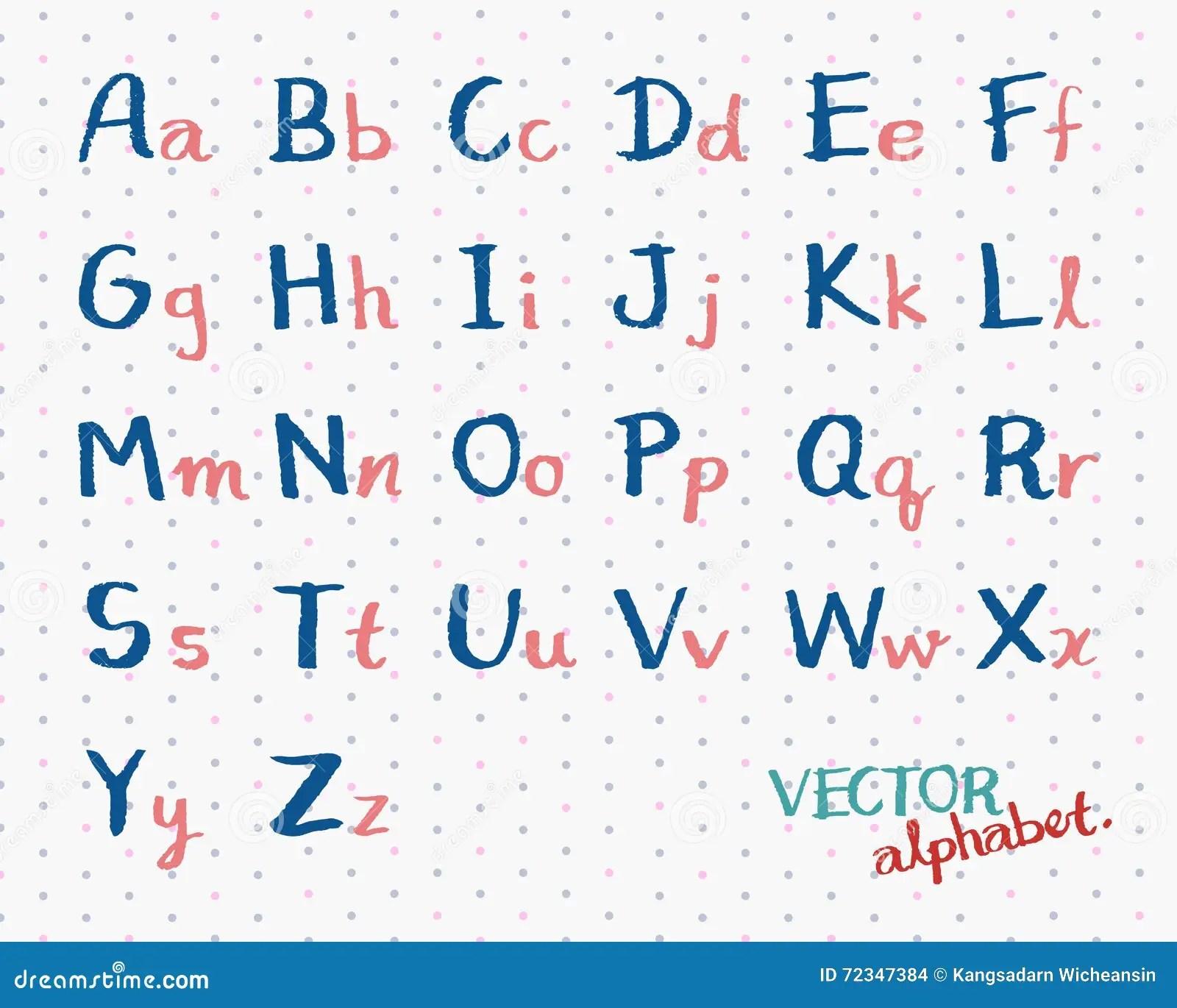 Vecteur M Crit D Alphabet D Enfants La Police Anglaise