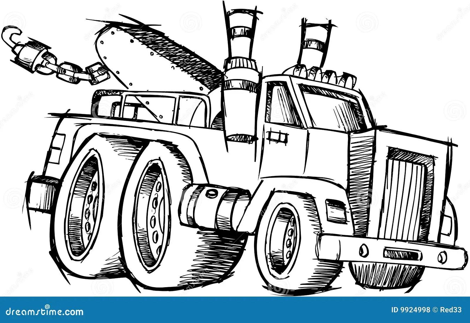 Vecteur Peu Precis De Camion De Remorquage Illustration De