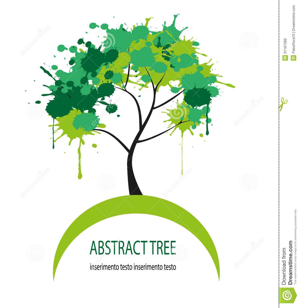 Vector Abstract Tree Royalty Free Stock Images Image