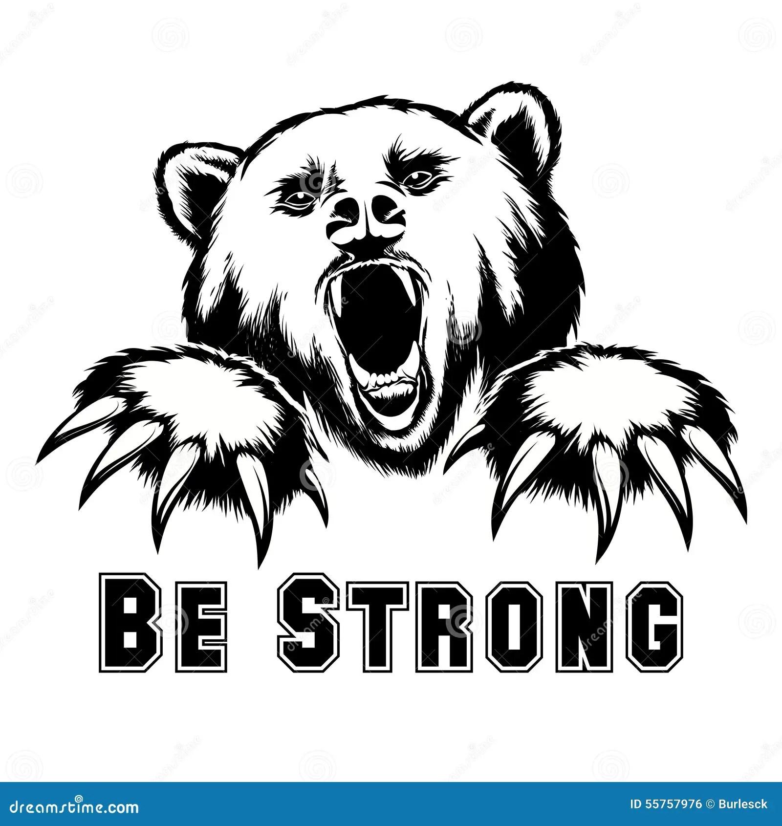 Vector Angry Bear Head Stock Vector Illustration Of