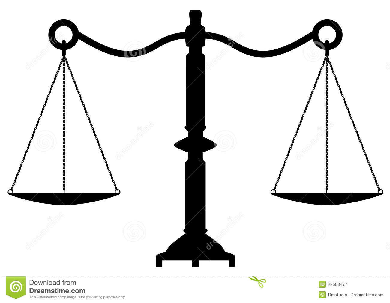 Vector Antique Scales Of Justice Royalty Free Stock