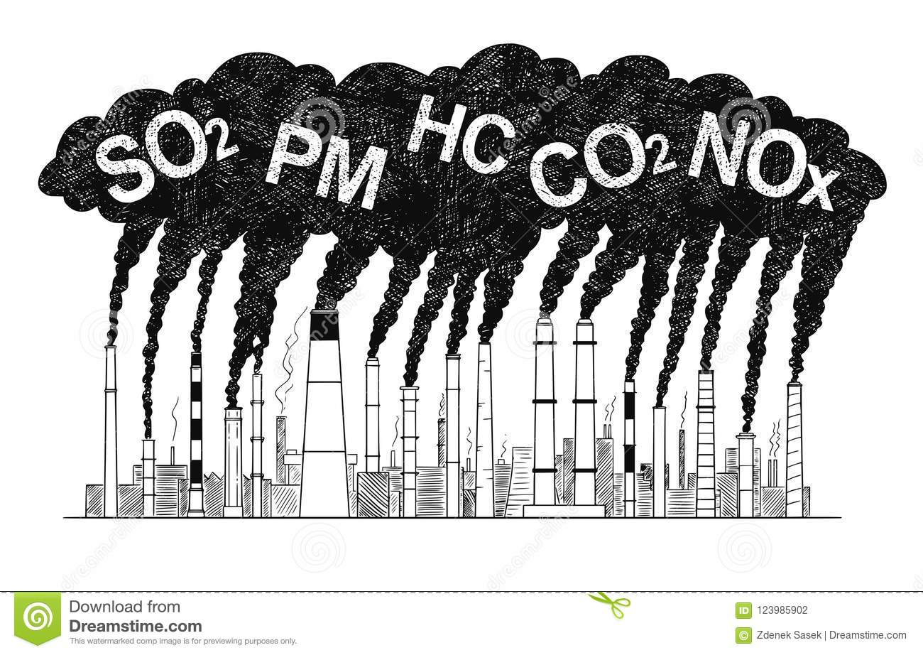 Factory Pollution Cartoon