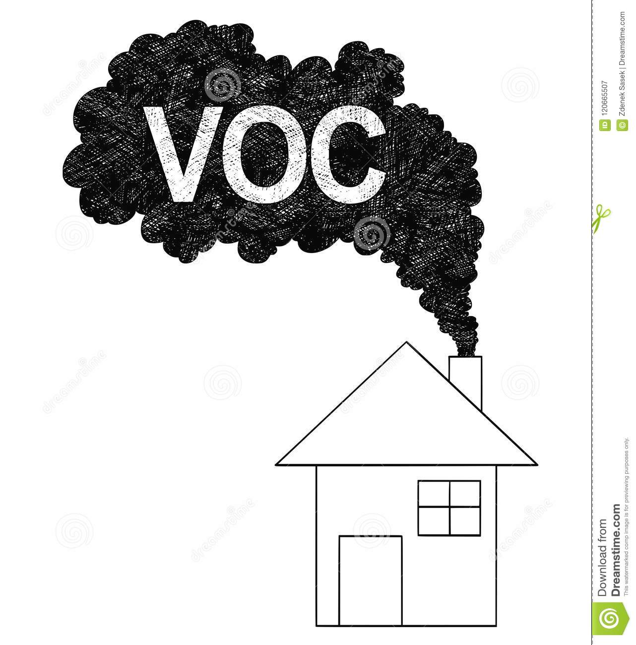 Vector Artistic Drawing Illustration Of Smoke Coming From